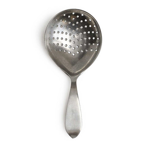 Sirmione Cocktail Strainer Spoon - 16.5 cm Length - Handcrafted in Italy - Pewter