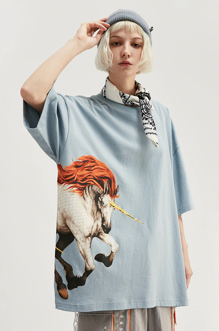 T-shirt Streetwear <br> Unicorn