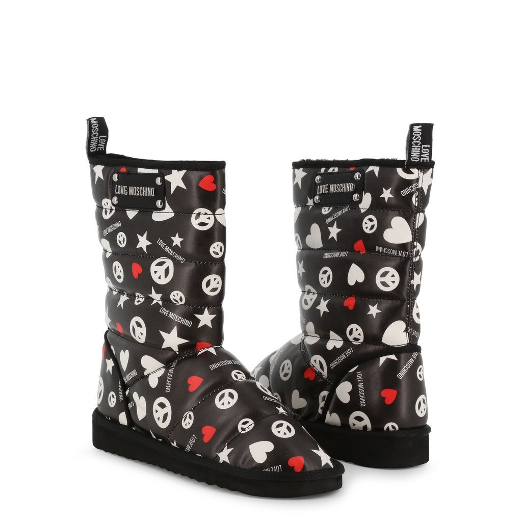 Boots en tissu avec fourrure synthétique - Love Moschino