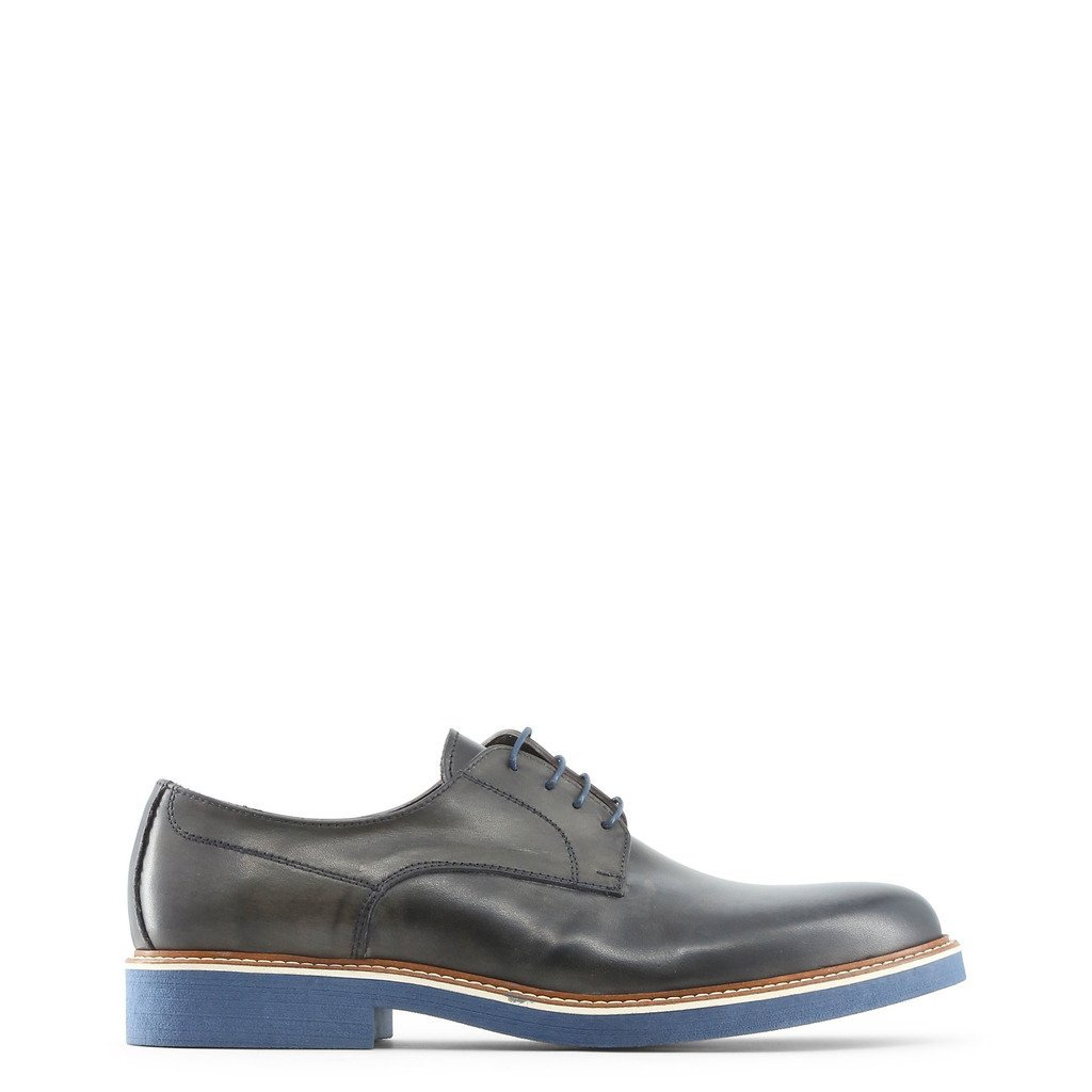 Chaussures style derby à plateforme en cuir bleu - Made in Italia EMILIO