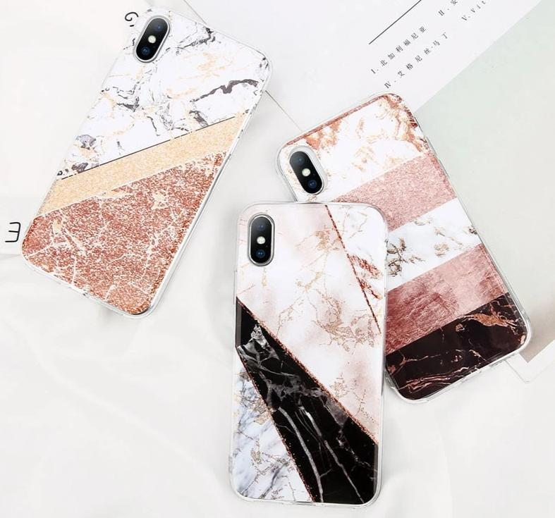 Coque iPhone <br> Marble color