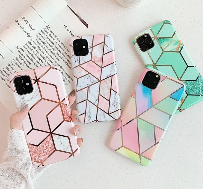Coque iPhone <br> PlatingMarble