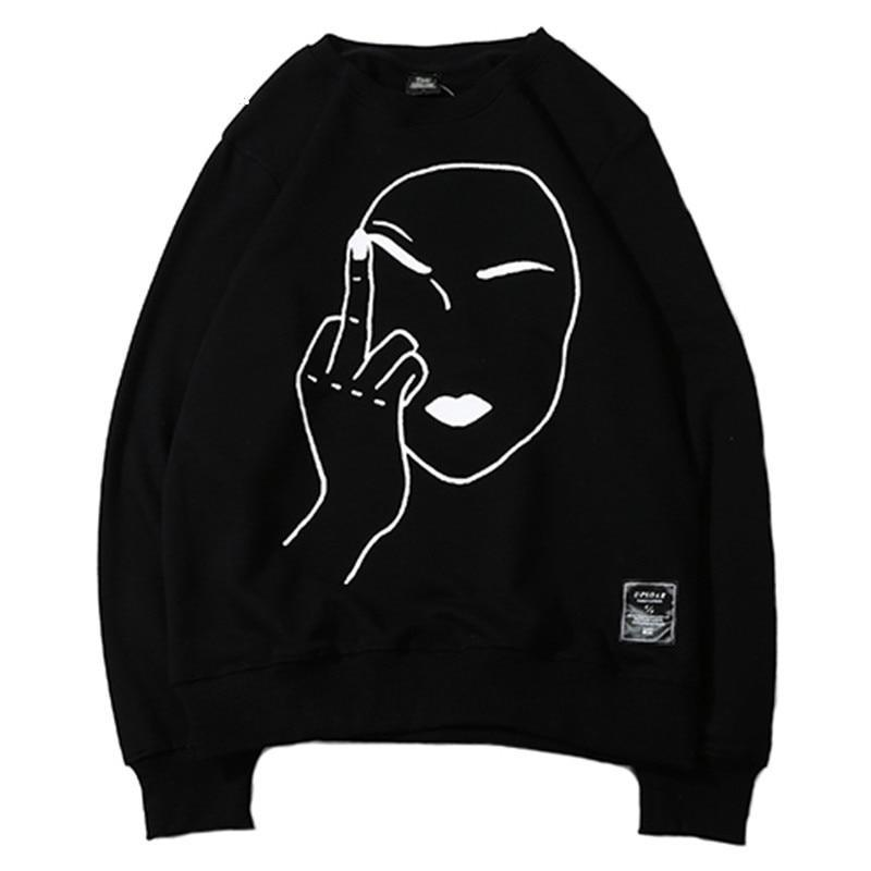 Sweatshirt Streetwear <br> Middle Finger