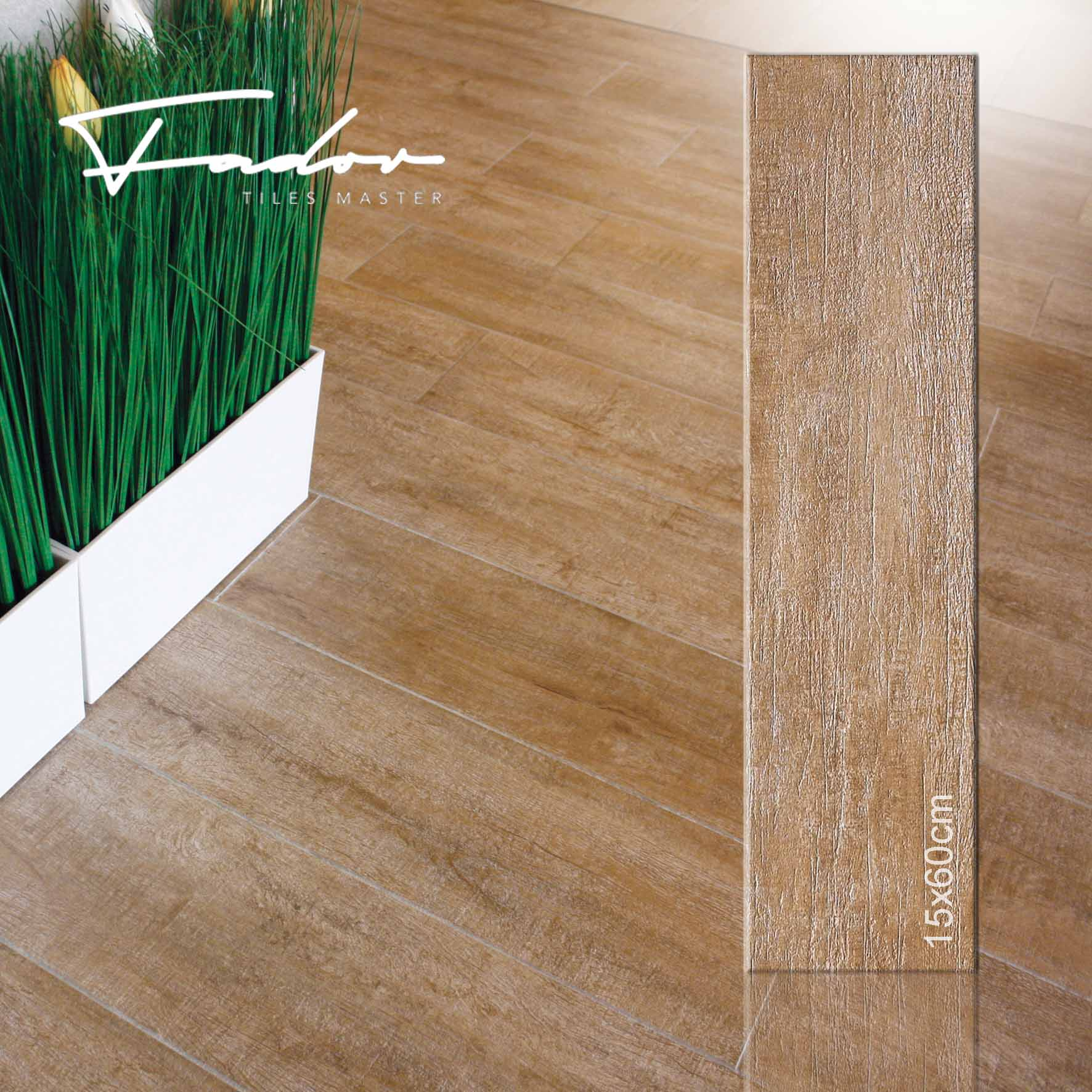 Fandor floor porcelain wooden tiles 15X60cm
