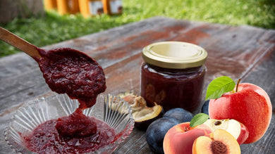 Plum, Peach, Apple & Cinnamon Jam