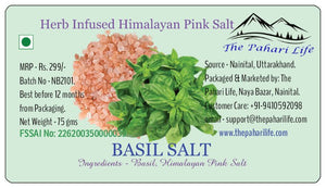 Basil Infused Himalayan Pink Salt