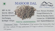 Load image into Gallery viewer, Organic Pahari Masoor Dal