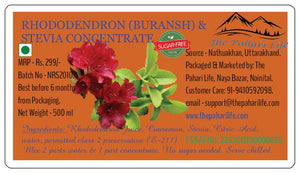 Rhododendron (Buransh) & Stevia Concentrate - Sugar free