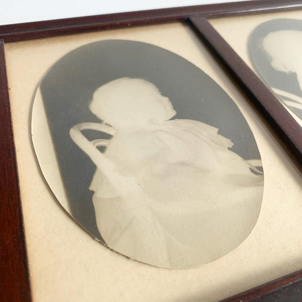 Vintage Silhouette Triptych