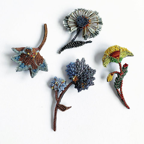 Trovelore Handcrafted Floral Brooches