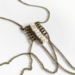 Demimonde Draped Howlite Necklace
