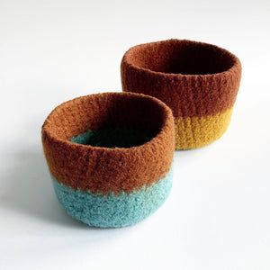 Secondhand Nesting Wool Bowl Pair
