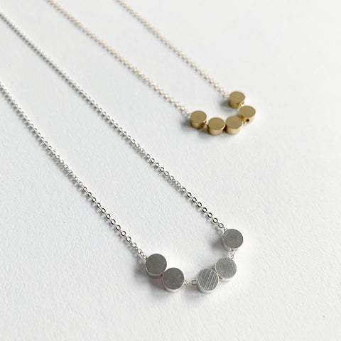 Baleen Five Dots Necklace