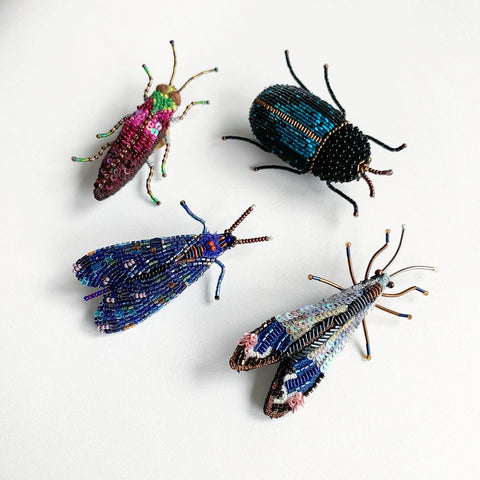 Trovelore Handcrafted Beetle Brooches