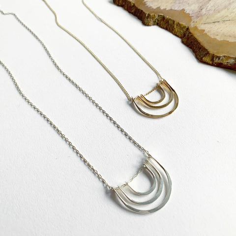 Carolyn Keys Triple Arc Necklace