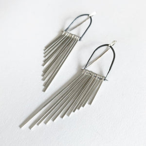 Demimonde Sterling Silver Fringe Earrings