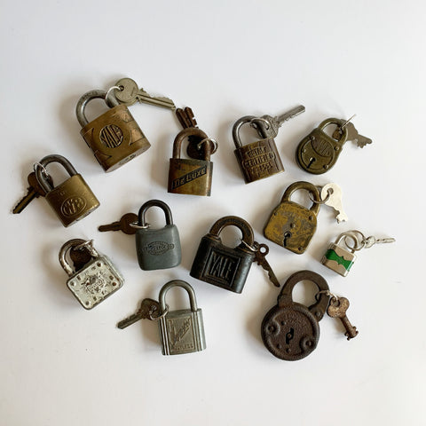 Vintage Lock and Key Sets