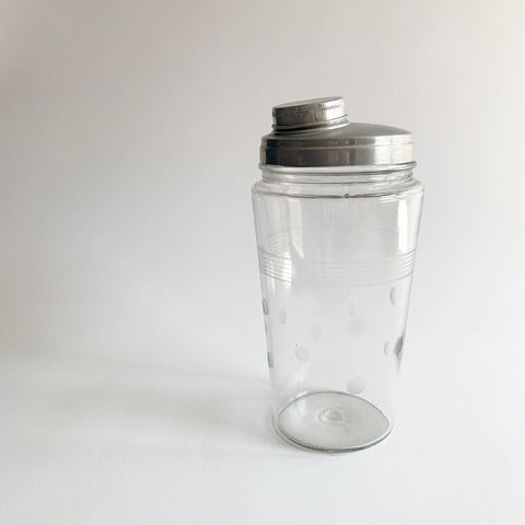 Vintage Polka Dot Cocktail Shaker
