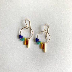 Ronni Kappos Rainbow Triangle Hoops