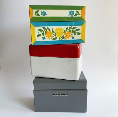 Vintage Recipe Boxes - Various