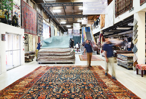 Landry and Arcari Salem Showroom with thousands of Antique and Vintage Rugs