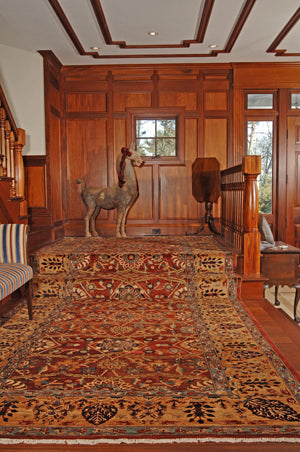A darker oriental rug can create a mood of intimacy.