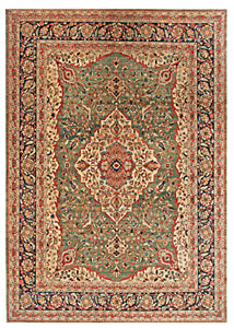 Kashan, an example of a formal oriental rug design,