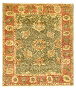 Oushak rug, relaxed in weave and design.