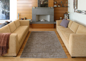 Keeping a rug free of furniture creates a crisp look.