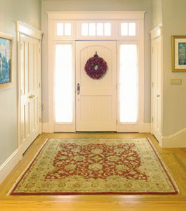 A rug can be the focal point of a room.