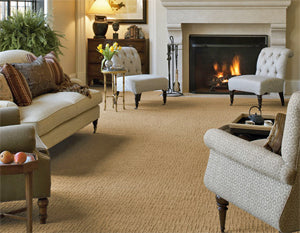 Broadloom carpeting can create a comfortable place to relax and play.