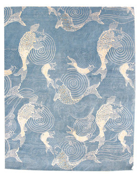 Nishikigoi rug - based on an Aesthetic Movement design by Candace Wallace.