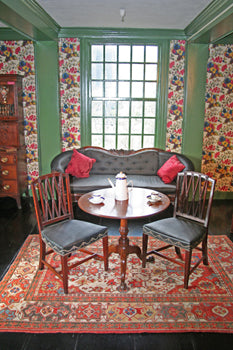 Transylvania rug in the House of the Seven Gables parlor