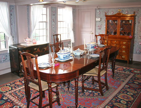 Transylvania rug in the House of the Seven Gables dining room