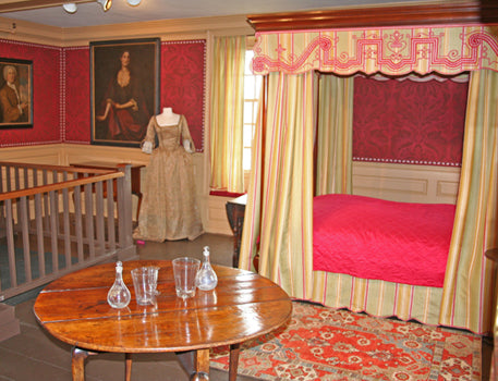 Transylvania rug in the House of the Seven Gables bedroom