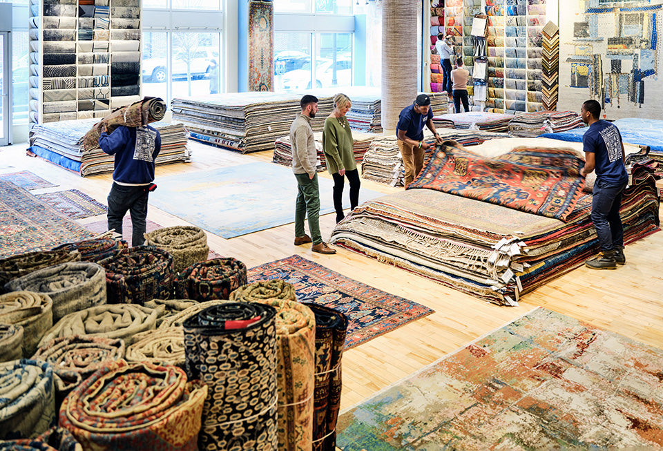 Landry and Arcari Boston Showroom with a huge selection of Oriental and Modern Rugs and Carpet