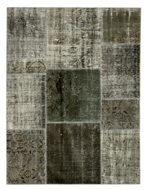 patchwork overdyed contemporary rug sustainable home decor recycled boston