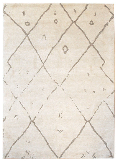 A Tibetan rug with a design based on the rugs of tribal Berber people of North Africa.