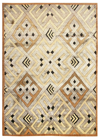 Tibetan rug with a design based on an African textile design.