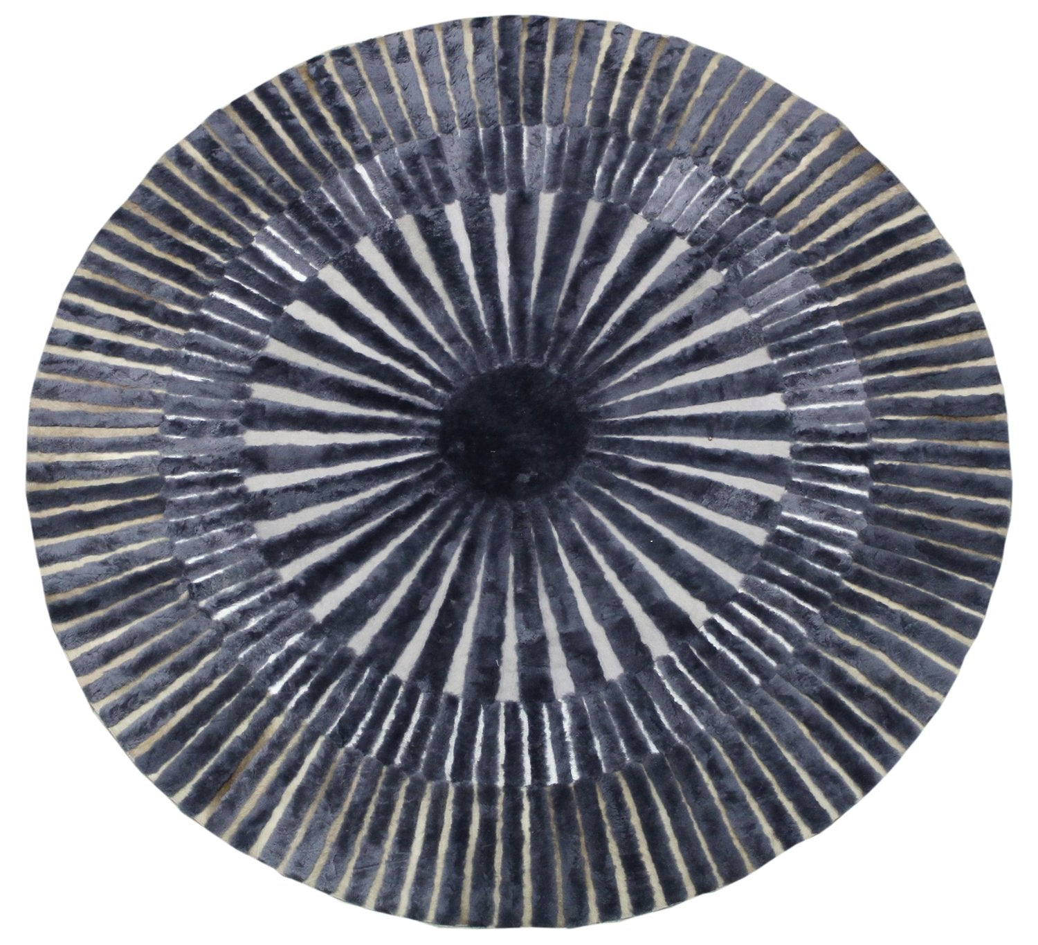 Ammonite Animal Hide Contemporary Rug