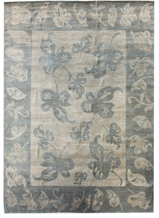 Butterfly Leaves Handwoven Contemporary Rug