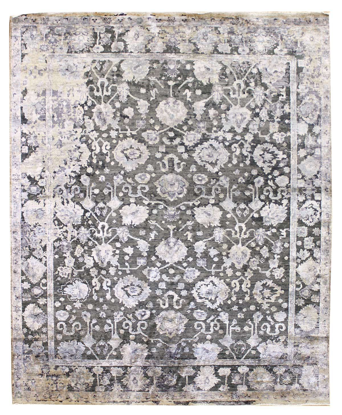 Erased Agra Handwoven Contemporary Rug