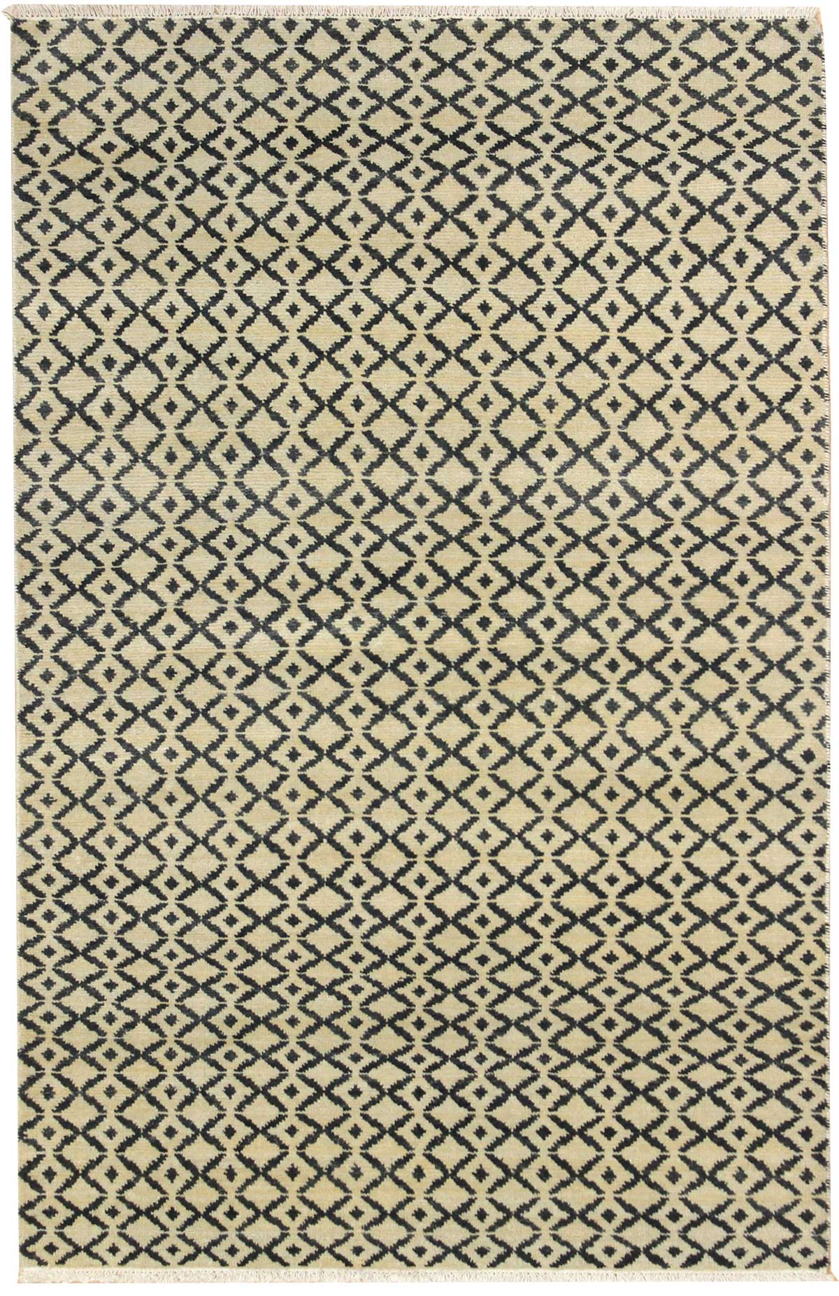 Grids Handwoven Contemporary Rug
