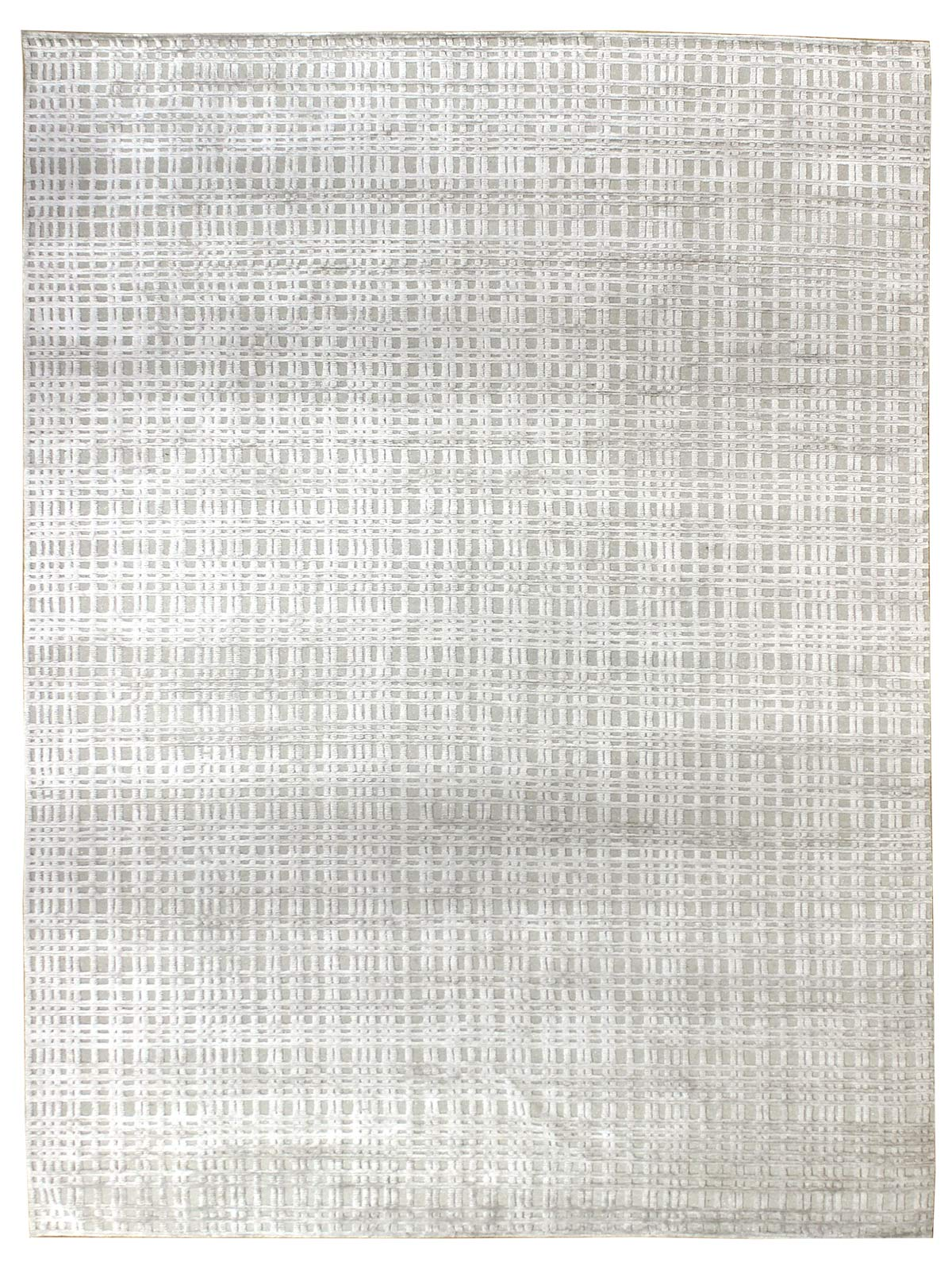 Sand Grid Handwoven Contemporary Rug