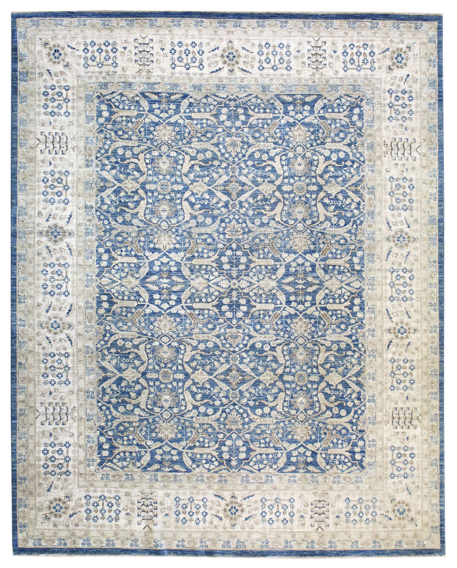 Arabesque Tabriz Handwoven Traditional Rug