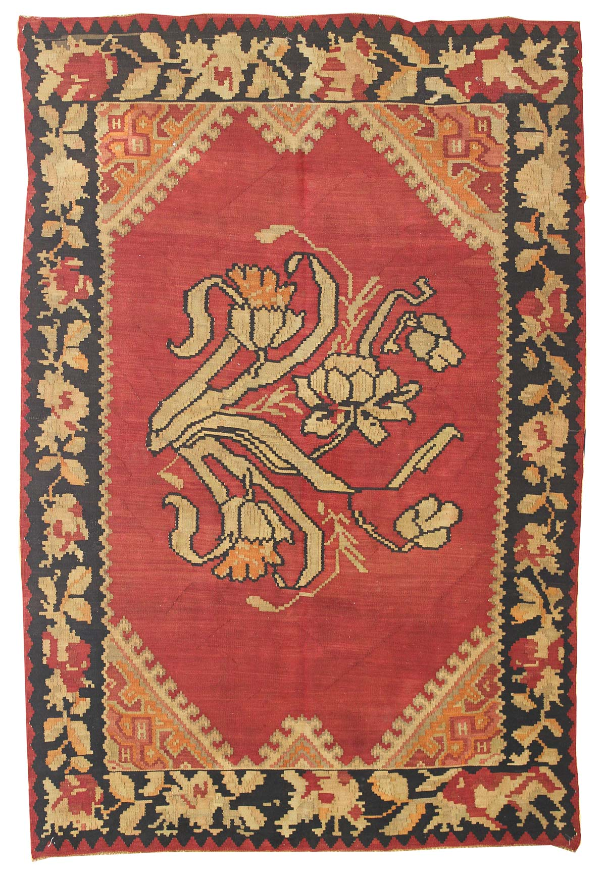 Bessarabian Handwoven Traditional Rug