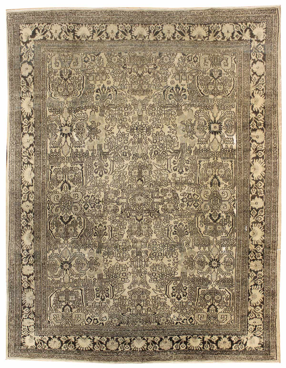 Antique Bibikabad Handwoven Traditional Rug