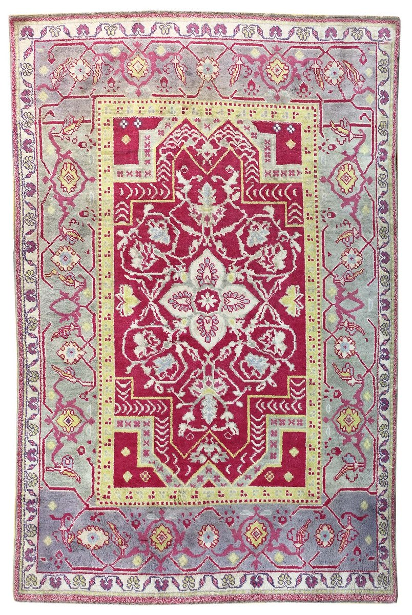 Vintage Double Niche Handwoven Traditional Rug