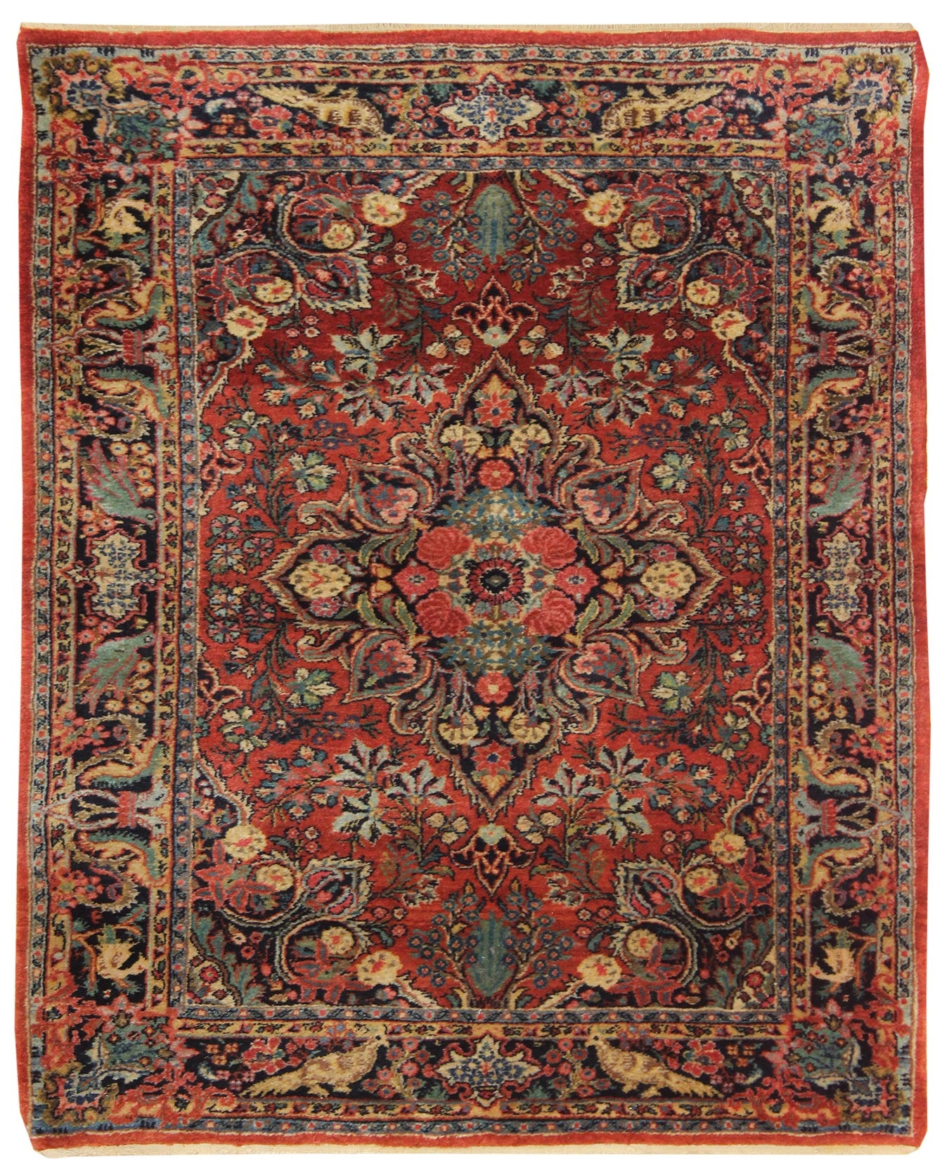 Antique Ekbatan Handwoven Traditional Rug