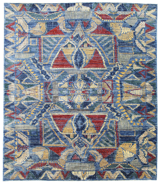 Etched Handwoven Traditional Rug